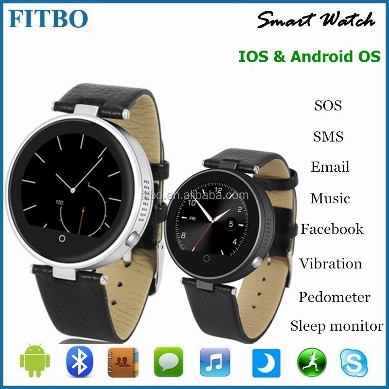 High-Tech Leather + SIM/TF gps tracker watch phone for huawei P9 mate 9 pro Apple 7