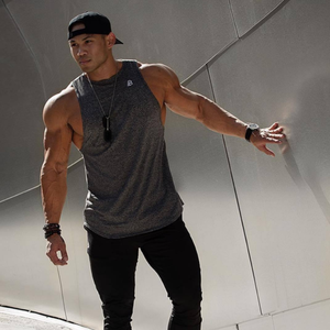 Men Gym Muscle Sleeveless Shirt Male Vest Tank Tops Bodybuilding Clothing With Logo