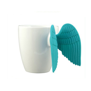 Hot sale silicone angel wing ceramic coffee Cup