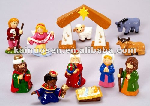 Porcelain Christmas Nativity Scene
