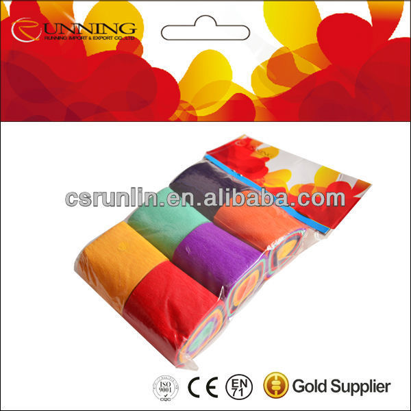 normal color crepe paper streamer roll