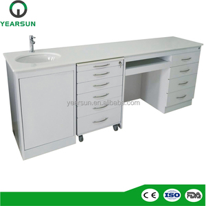 Dental office furniture / dental clinic furniture cabinet with sink and drawers for sale