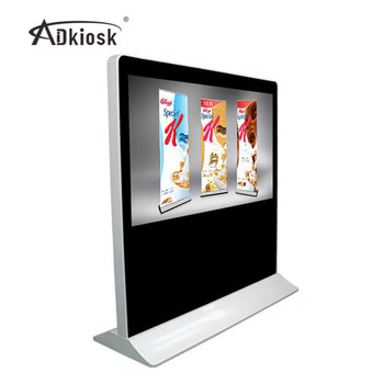 hot sales products 65 inch large standing lcd tv with touch screen for advertising