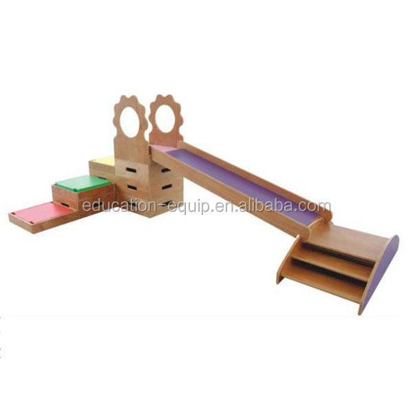 Se943004 Preschool Children Indoor Wooden Climbing Slide ...