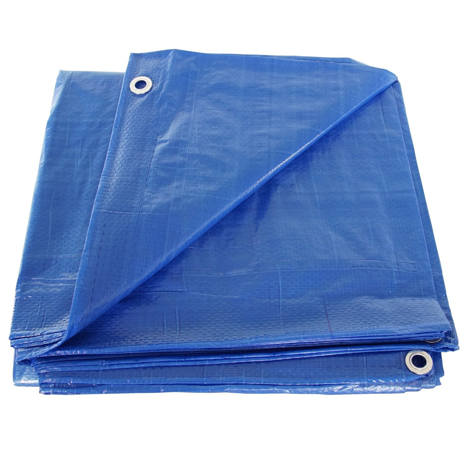 30' x 50' Blue Poly Tarp Cover, Water Proof Tent Shelter Camping RV Boat Tarpaulin