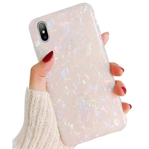 Hot Selling IMD Sea Shell Pearl Pretty Pattern Cute Glitter TPU Phone Case Girls Women for iPhone 6s 7 8 Plus X Xs Xr Xs Max