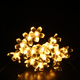 Wholesale 50 LEDs Peach Sakura Solar Power LED String Lights outdoor Garlands Garden Christmas floral lights