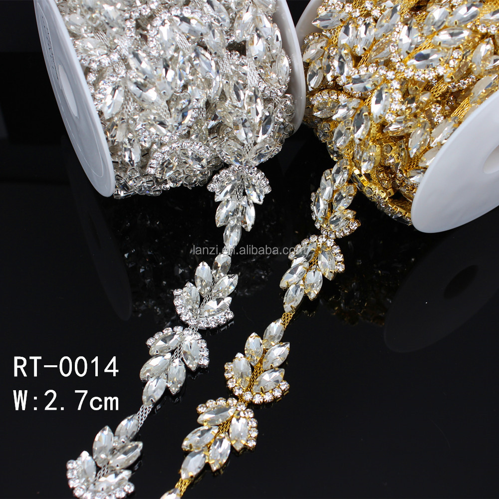 Cheap Rhinestone Trim For Wedding Dresses Belt RT-0014 фото