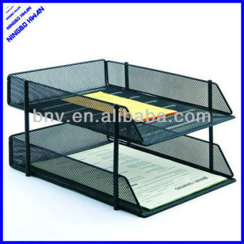 Merveilleux 4 Tier Office Metal Stackable Desk Letter Tray Stationery Organizer