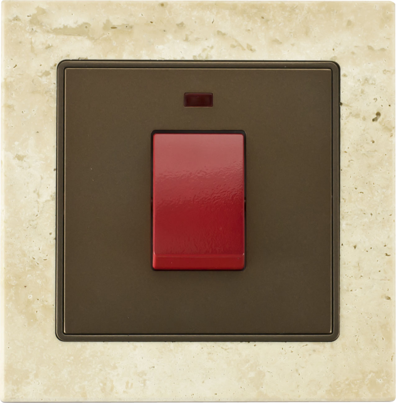 45A 1 gang stone frame DP switch with neon