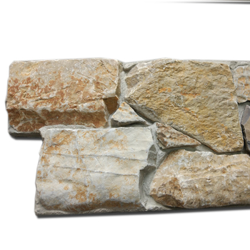 Yellow Limestone  Interior and Exterior Stone Wall Cladding Cultural Stone Panel  CZ-N100