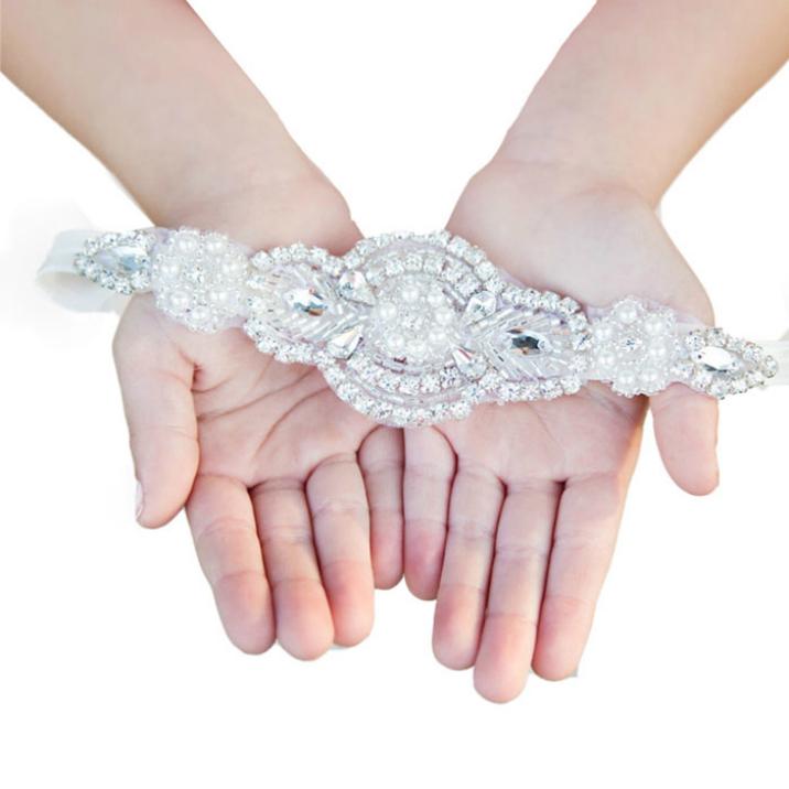 Best Deal 2015 New Bling Girl Baby Children Headband Handmade Beaded Drill Hair Bride Accessories 1pc