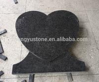 Heart Shape Blue Pearl Granite Headstone