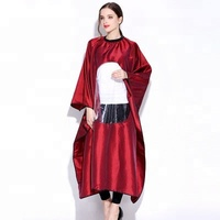 New Styling Waterproof Hairdressing Salon Cape Barber Cape With Clear Plastic Window