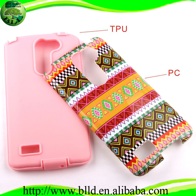 Watering printing PC TPU hybrid custom designs case accesorios de celulares for LG Bello Prime D331D337