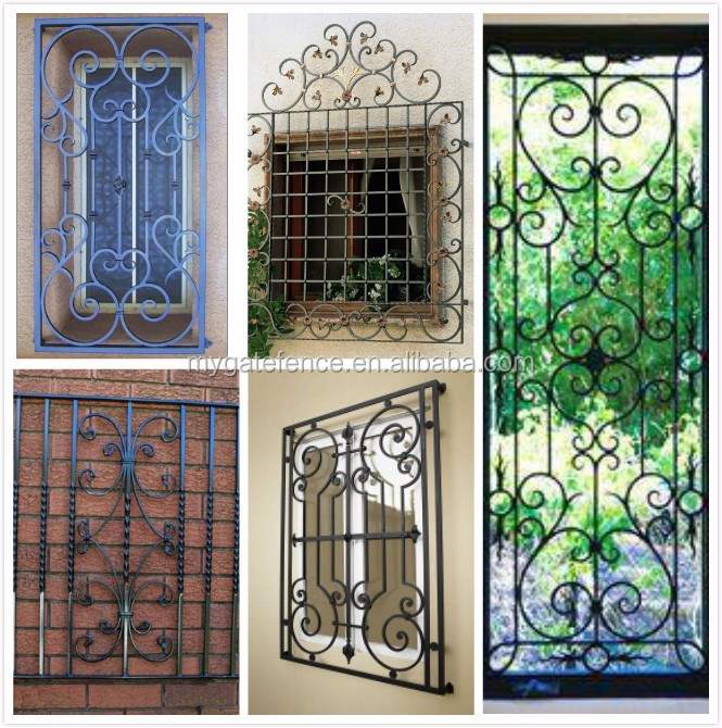 Yishujia Factory New Style Of Window Grills Ornamental Wrought Iron Guard Designs