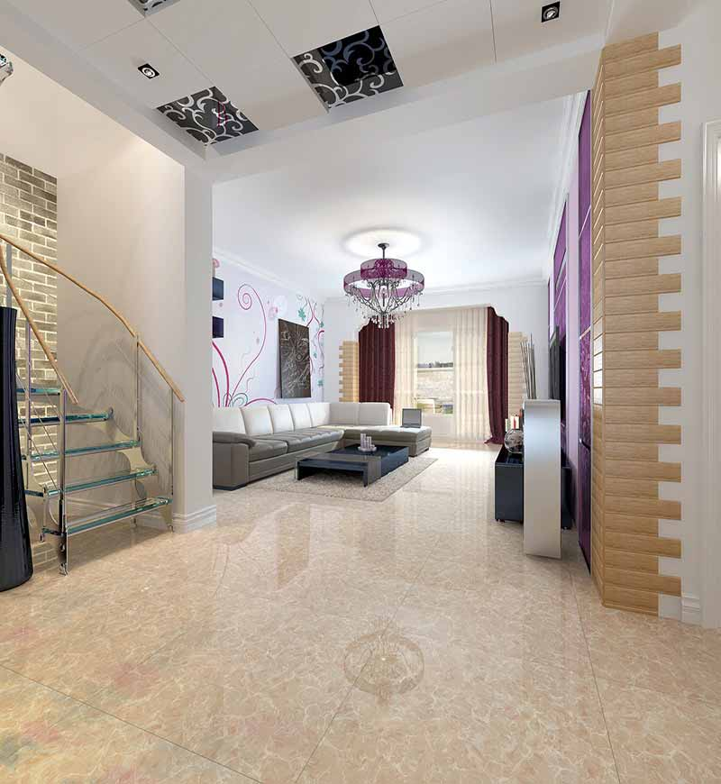 Competitive Ceramic Price Flooring for House Crema Marfil Marble Polished Porcelain Tiles