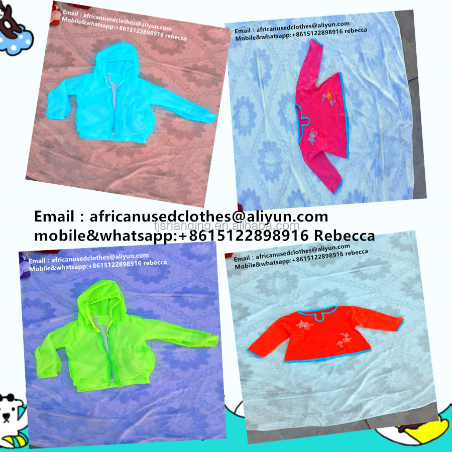 secondhand clothing / children natural, concise used clothes in Africa