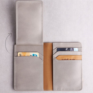 Brand Slim RFID Smart Genuine Leather german fine gary leather wallets