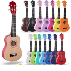 Factory direct sale 21 inch wood ukulele music instruments children little guitar colorful ukulele