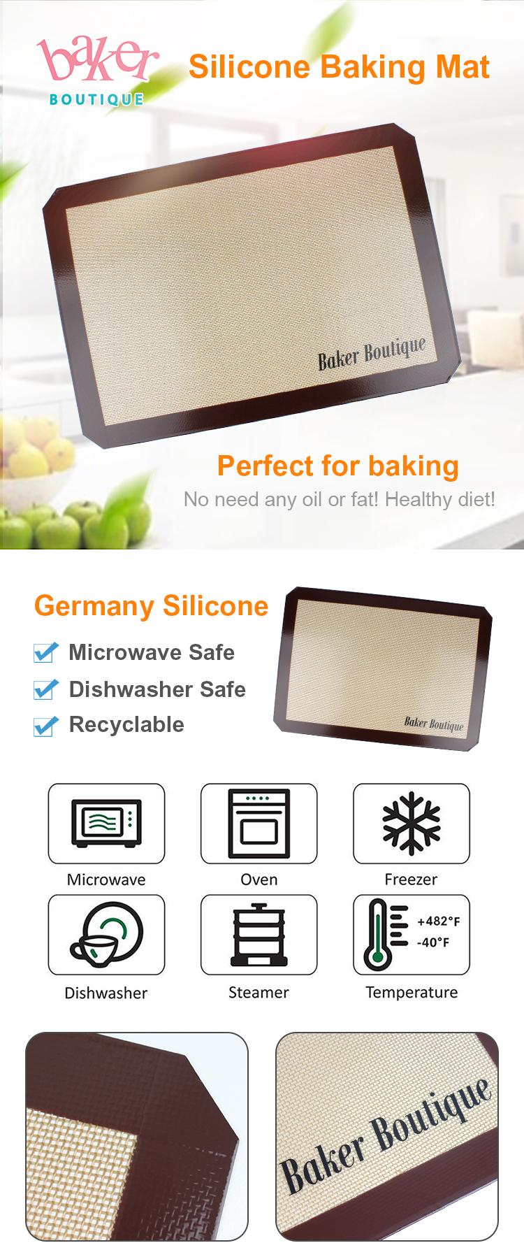 Amazon Hot Koop BPA Gratis Zwart PTFE non-stick BBQ Grill Mat
