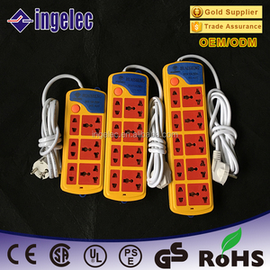 best price multiple power socket time delay flat extension power socket