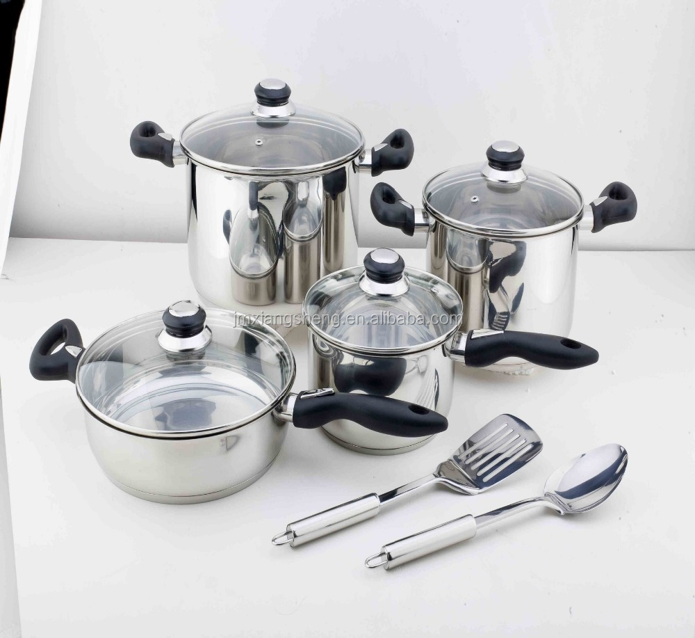 10 pcs stainless steel megaware dessini cookware set for induction