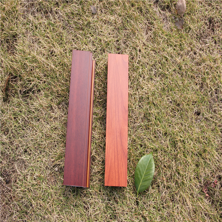 Wood grain effect powder coating for metal door and window