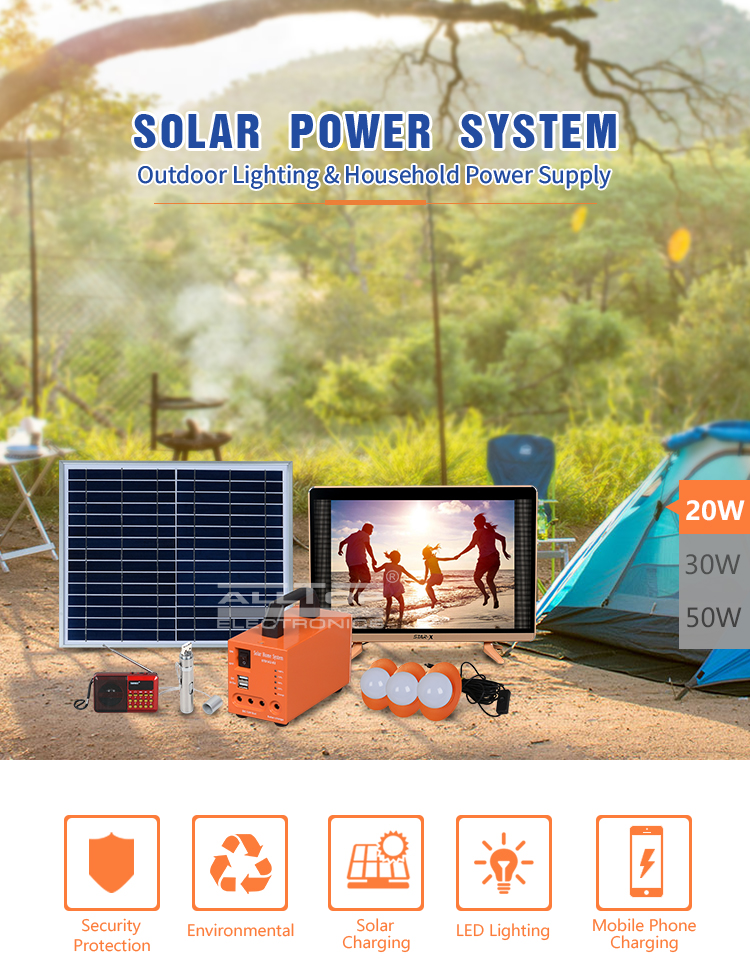 ALLTOP  Cheap Pay Portable mini 5W Solar energy powered Home System