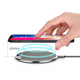 Stylish Refined Denim Fabric Plus Zinc Alloy Base Wireless Charger Tablet For Ipad 2