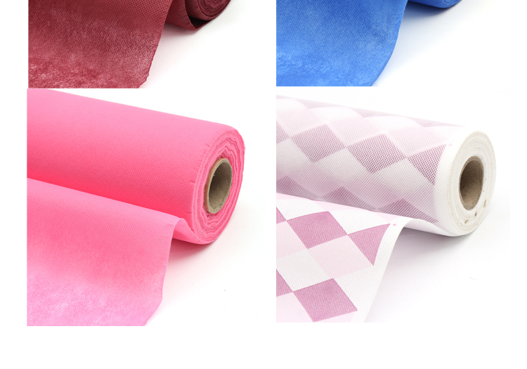 Cheap pp spunbond non woven fabric roll of print flowers