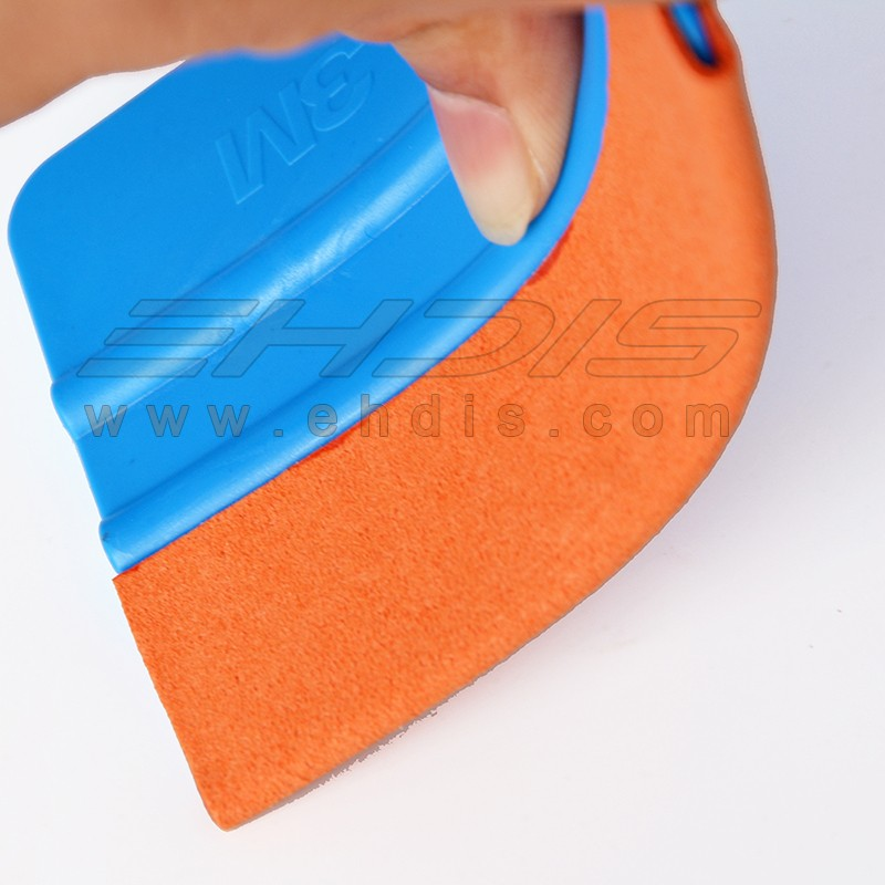 professional 4 inch vinyl squeegee felt suede felt squeegee tool for vinyl in blue color