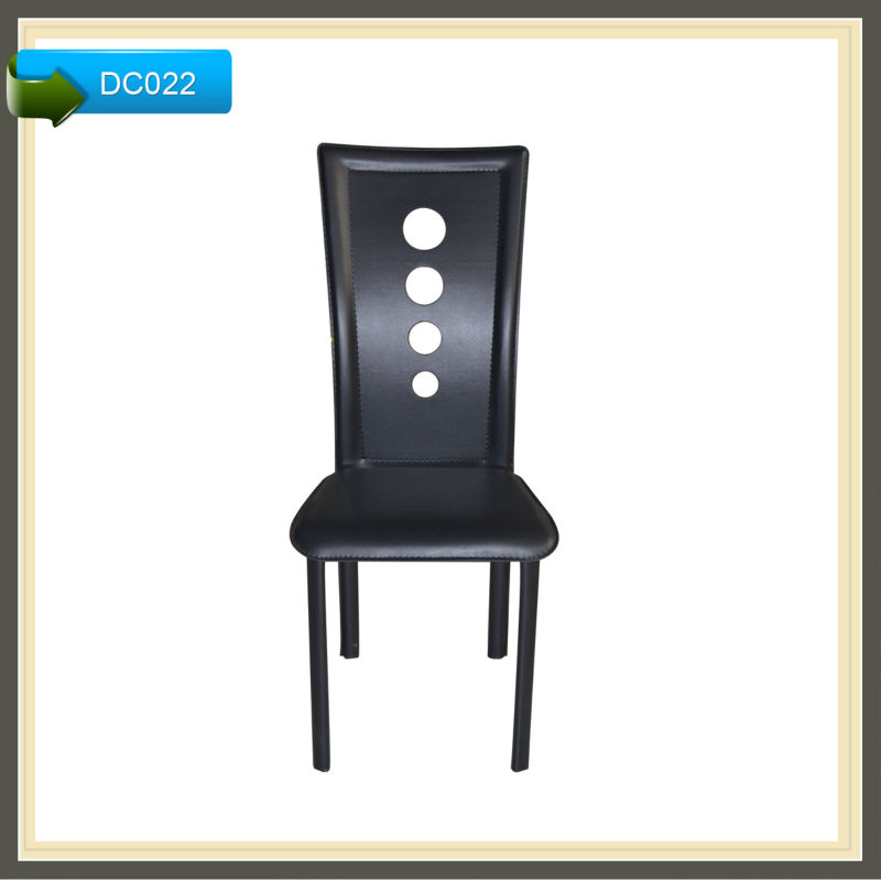 model dining chair seat cover fabric black leather DC022