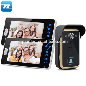 7 Inches Color Wired Video Doorbell, Rainproof Door Phone with Video Recording and Photo Taking Function, Easy Installation