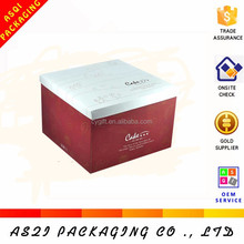 birthday moon paper white lid and base clear cake box with flat packing