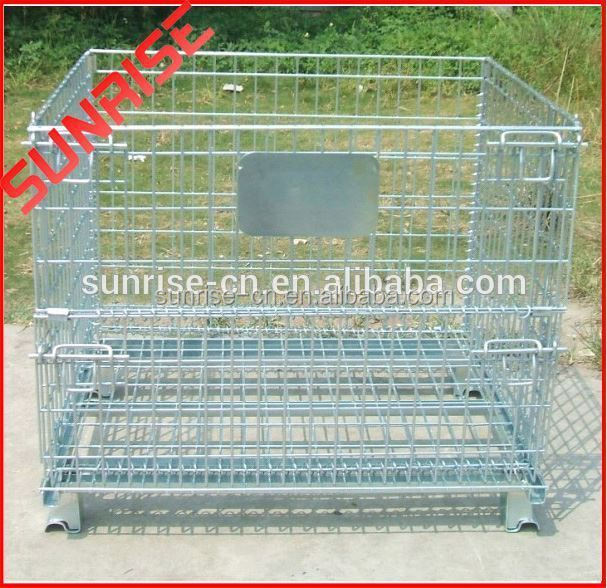 "FOLDING WIRE CONTAINERS - 1\/2"" Square Mesh Openings"