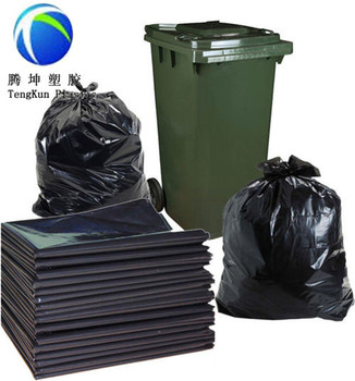 Heavy Duty Biodegradable Black Garbage Bags Trash Bags
