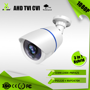 2MP IP66 IR Range 25m AHD TVI CVI Hybrid 3 in 1 dvr ahd 1080p business card cctv security camera lens cover
