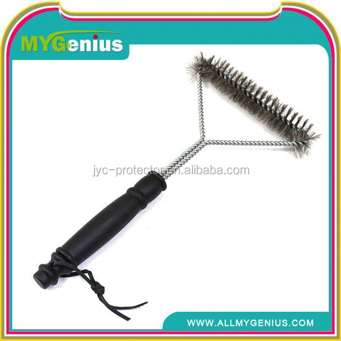 ML0002 stainless steel 3-sided bbq grill cleaning brush