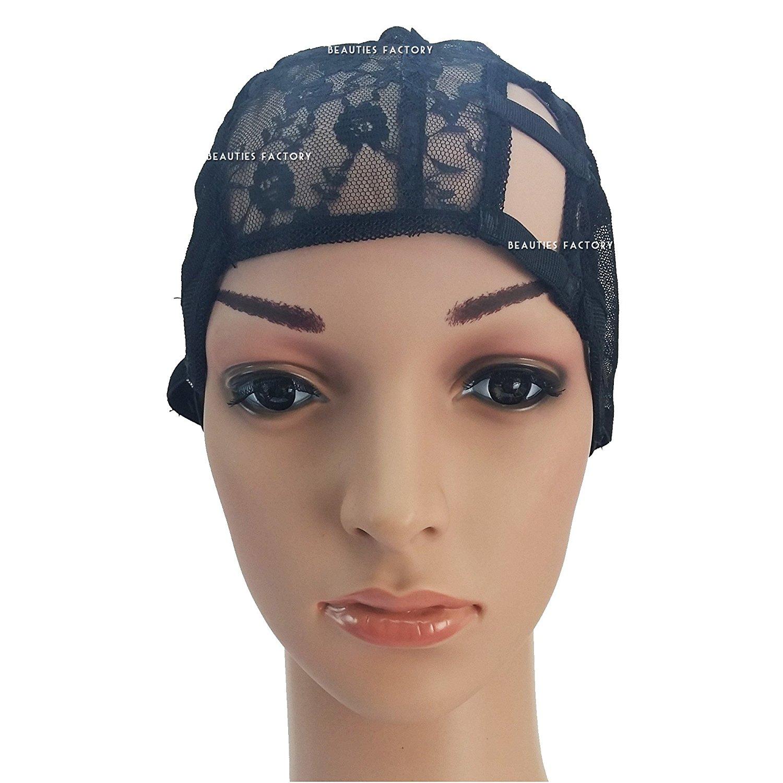 Beauties Factory DIY Wide Gap Left U-Part Weaving Wig Cap Net Mesh Adjustable Straps