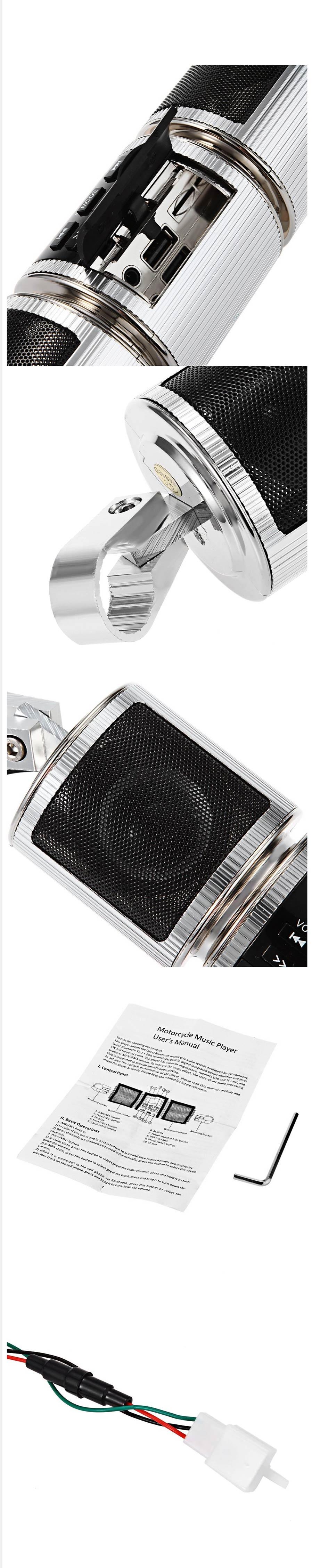 476eb1d059bd8 Motocicleta MP3 Player De Música, Motocicleta Bluetooth Alto-falante ...