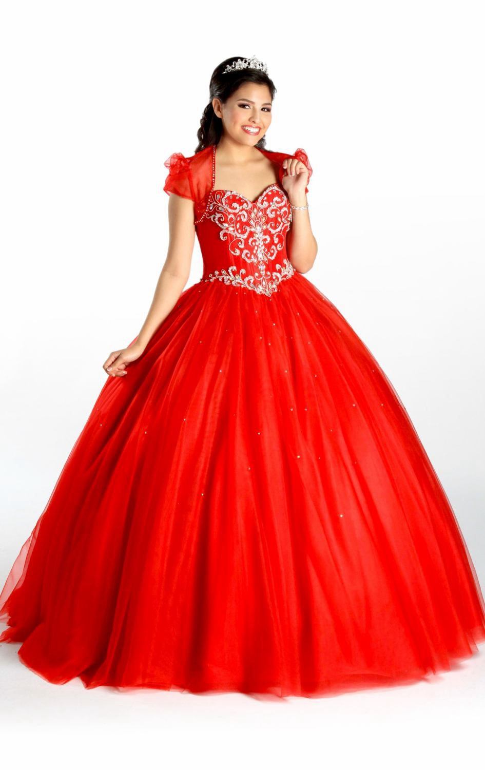 Ball Gown 2015 High Quality Custom Made Beaded Crystal Sweetheart Neck Sleeveless Lace Up Back Charming Quinceanera Dres