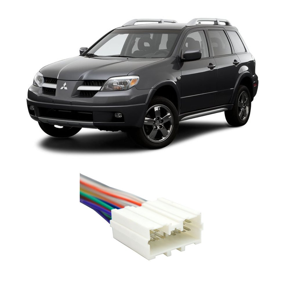Get Quotations · Mitsubishi Outlander 2003-2006 Factory to Aftermarket Radio  Harness Adapter