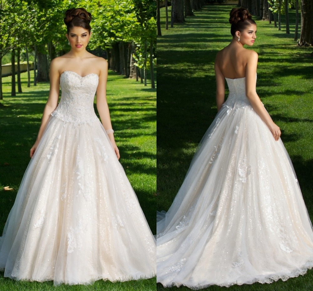 Western Style Wedding Gowns: Elegant Sweetheart Country Western Style China Sexy