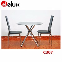 "modern 72"" big wooden top quality folding dining table design banquet round table C307"