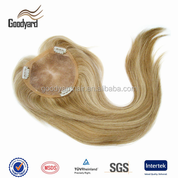 Natural looking Factory price Mono Top hair pieces add clips virgin human hair toupee for women