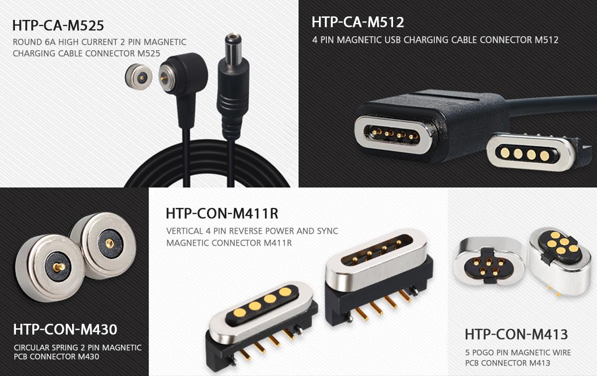 Manufactory 5V 4 Pogo Pin Data Magnetische Elektrische Connector Dc Oplaadkabel