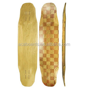 2017 custom longboard pintail shape bamboo deck with fiberglass bamboo