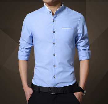 46dc47a66f9 X83476A korean new style latest formal shirt designs for men plain shirt  blouse pattern
