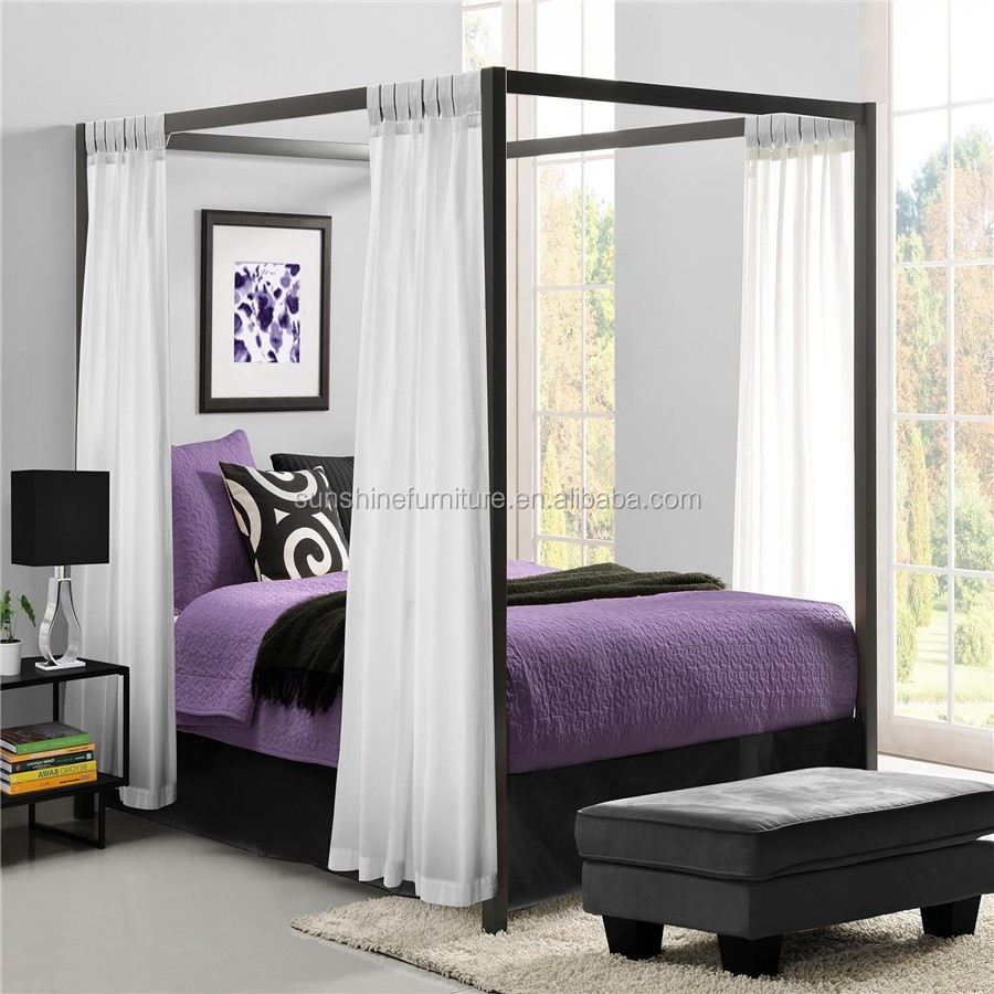 King Size/queen Size Modern Metal Furniture Modern Luxury Princess Canopy  Bed   Buy Canopy Bed,Princess Canopy Bed,Luxury Canopy Bed Product On  Alibaba.com